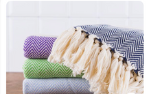 Load image into Gallery viewer, 100% Organic Cotton Peshtemal Turkish Kitchen/Hand Towels
