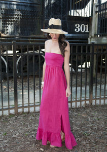Christine Ruffle Hem Maxi Dress