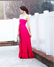 Load image into Gallery viewer, Christine Ruffle Hem Maxi Dress