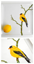Load image into Gallery viewer, Golden Finch Serving Platter : Hand Painted Large