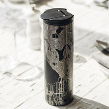 Load image into Gallery viewer, Hollywood - California Map Tumbler in Matte Black