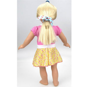 new baby girl Doll Clothes Dress Accessories For A