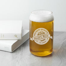 Load image into Gallery viewer, Personalised Premium Quality Beer Can Glass