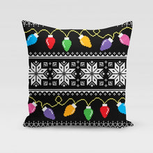 Load image into Gallery viewer, Bright Lights Sweater Pillow Cover