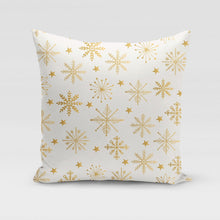 Load image into Gallery viewer, Golden Gift-Wrap Pillow Cover