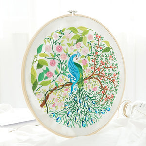 Beautiful Peacock Embroidery Kits Handwork Needlework Cross Stitch Sets Swing Art Handmade Craft Wall Painting Home Decor Gift