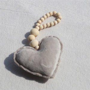 INS Nordic Style Wooden Beads room decoration Ornament Star Heart Shape Kids Room Decoration Nursery Tent Wall Hanging Decor