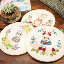 Load image into Gallery viewer, Easy Ribbon Embroidery Sale With Retro Hoop for Beginner Needlework Cross Stitch Kit Handmade Sewing Wall Decor Flowers Series