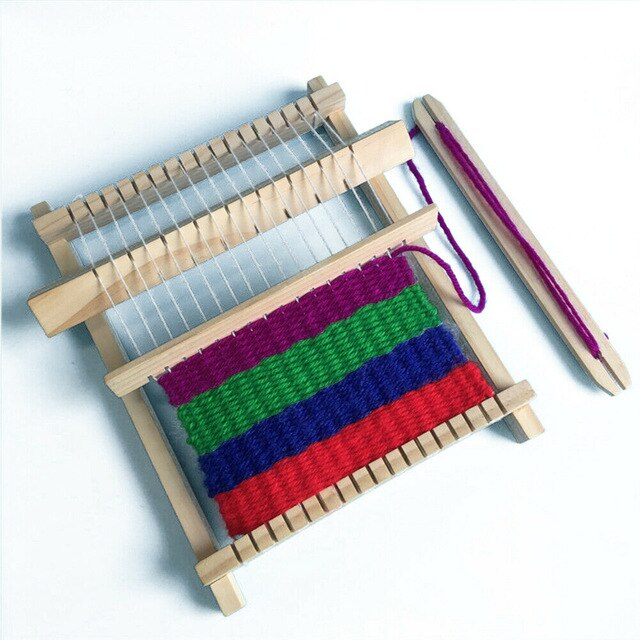 New DIY Hand-Knitting Wooden Loom Toys Children Weaving Machine Educational Toy Children's Educational Woven Toys