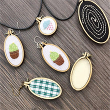 Load image into Gallery viewer, Mini Embroidery Hoop Frame Handmade DIY Cross Stitch Sewing Wooden Sewing Process Tool Fast Delivery