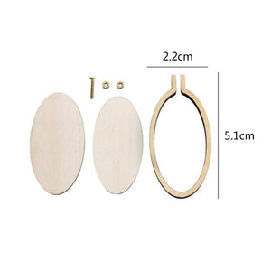 Mini Embroidery Hoop Frame Handmade DIY Cross Stitch Sewing Wooden Sewing Process Tool Fast Delivery