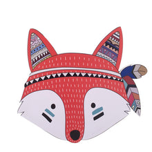 Load image into Gallery viewer, Kids Room Decorations Nordic Style Wood Plastic Board Ornaments Cartoon Animal Head Wall Decor Children Gift