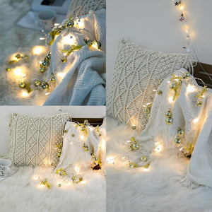 78.7in Christmas Lights Party LED String Lights Holiday Garland Home