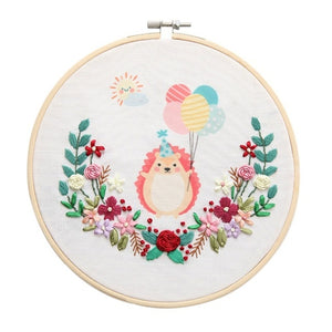 DIY Embroidery For Beginner Needlework Practice Kits Creative Modern Animal Wall Painting Craft Art Sets For Home Decoration