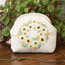 Load image into Gallery viewer, Coin Bag Hand Embroidery European Style personality Gift Change Purse Vintage Linen DIY Handmade Kit 1 Set Travel Outdoor Holder