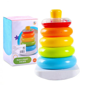 Baby Toys 6 12 Months Rainbow Stacking Rings Early Development Toys for Baby Toddlers Brinquedos Para Bebe Baby Boy Toys