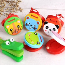 Load image into Gallery viewer, Kids Wooden Castanets Toy Music Instruments For Baby Clapper Handle Musical Instruments Toys Educational Toys For Children