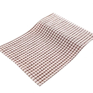 Soft Plaid Tea Towel Absorbent Kitchen Table Dishcloth Cotton Cleaning Cotton Table Napkins Kitchen Dishcloth Placemats cloth ra
