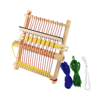 Deluxe Loom Kit,Children's Loom Hand-Woven,Wooden Multi-Craft Weaving Loom,DIY Wool Knitting Machine for Girl Gifts Handmade Toy