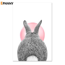 Load image into Gallery viewer, Kawaii Pink Bubble Gum Animal Child Poster Nursery Canvas Print Wall Art Painting Nordic Kids Decoration Picture Baby Room Decor
