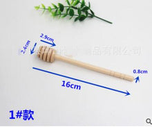 Load image into Gallery viewer, 2pcs/pack High Quality Wooden honey spoons Stir Bar Mixing Handle Jam Spoon Long Stick dipper Supplies Kitchen Tools