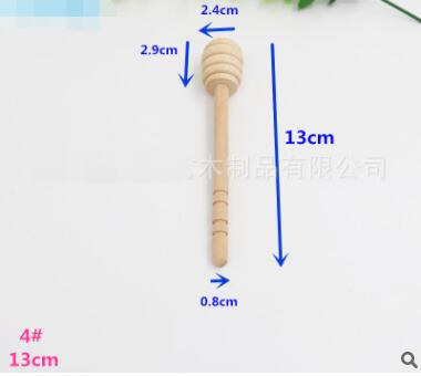 2pcs/pack High Quality Wooden honey spoons Stir Bar Mixing Handle Jam Spoon Long Stick dipper Supplies Kitchen Tools