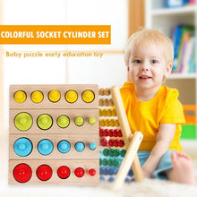Load image into Gallery viewer, Kids Montessori Educational Wooden Toys Colorful Socket Cylinder Block Set For Children Educational Preschool Early Learning Toy