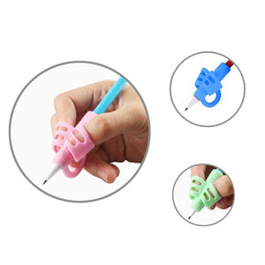 1pcs/3pcs Silicone Baby Learning Writing Tool Writing Pen Writing Correction Device Stationery Finger Holder Toys for Children