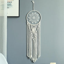 Load image into Gallery viewer, Moon Dreamcatcher Macrame Cotton Woven Bohemian Wall Hanging Tapestry Pendant for Girl Bedroom Living Room decoration