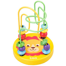 Load image into Gallery viewer, Boy Girls montessori Wooden Toys Wooden Circles Bead Wire Maze Roller Coaster Educational Wood Puzzles toddler educational toys