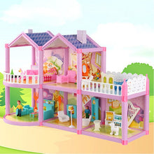 Load image into Gallery viewer, Handmade Dollhouse Castle DIY House Toy Miniature Dollhouse Birthday Gifts Educational Toys Doll Villa Girl DIY Toy