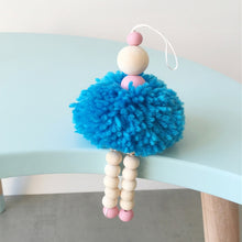 Load image into Gallery viewer, Nordic Wood Wall Hangings Cute Wool Ball Pendants Children Bedding Tent Decoration Kids Girl Room Nursery Decor Photography Prop
