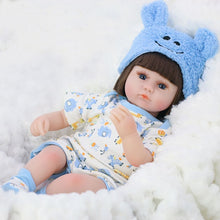 Load image into Gallery viewer, 42cm Silicone Reborn Doll Simulation Baby Bebe Dolls Reborn Soft Toddler Baby Toys For Girls Child Birthday Christmas Gifts