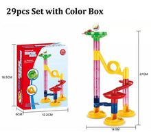 Load image into Gallery viewer, 29/105pcs Set DIY Construction Marble Race Run Track Building Blocks Kids Maze Ball Roll Toys Christmas Gift