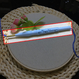 DIY Landscape Rainbow Punch Needle Embroidery Kit with Hoop Punch Needle Cross Stitch Handwork Set for Beginner kids Home Decor