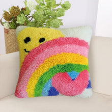Load image into Gallery viewer, Rainbow SeriesGrass Coarse Wool Latch Hook Kits DIY Cross Stitch Carpet Embroidered Girl Segment Embroidery DIY Rug Hooking Set