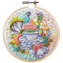 Load image into Gallery viewer, 10 kinds DIY Knitting Wool Rug Hooking Kit Handcraft Woolen Embroidery Hand Made Gift With 15 X 15cm Frame Punch Needle