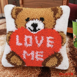 Bear Grass Coarse Wool Latch Hook Hook Pillow Kits Cross Stitch Carpet Embroidery Segment Embroidery DIY Rug Hooking Set