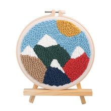 Load image into Gallery viewer, Hot DIY Knitting Wool Rug Hooking Kit Handcraft Woolen Embroidery Creative Gift With 20cm Embroidery Frame Punch Needle Bracket