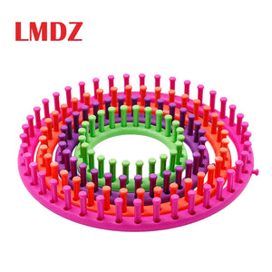 LMDZ 4 Size Round Knitter Looms DIY Tool Kit Plastic Round Circle Creative Hat Scarf Sweater Circle Loom Hand Knitting Knit Loom
