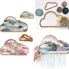 Load image into Gallery viewer, 3Pcs Wooden Cloud Shape Knitting Loom DIY Craft Weaving Tool Hand Knitted Machine for Handmade Wall Hanging Kids Children Toys