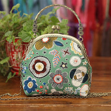Load image into Gallery viewer, 3D DIY Ribbon Embroidery Bag Set, Needlework Kits Cross Stitch Chain Bag with Hoop,Handmade Swing Purse Wallet Creative Gift