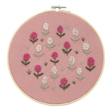 Load image into Gallery viewer, DIY Embroidery Starter Kit Pre Printed Needlework Flower Pattern Color Threads with Embroidery Hoop NIN668