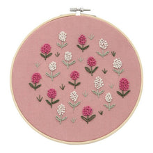 Load image into Gallery viewer, DIY Embroidery Starter Kit Pre Printed Needlework Flower Pattern Color Threads with Embroidery Hoop TUE88