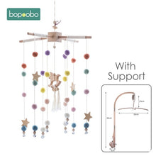 Load image into Gallery viewer, Bopoobo 1 set Silicone Beads Baby Mobile Beech Wood Bird Rattles Wool Balls Kid Room Bed Hanging Decor Nursing Children Products