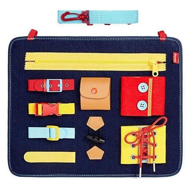 Learn to Dress Bag Colorful Basic Life Skills Toys Early Learning Kits Kid Gi