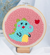 Load image into Gallery viewer, Creative DIY Embroidery Kits Cartoon Hand 3D Landscape poke Stitching with Hoop or frame Needlework Modern Adults Craft Sewing