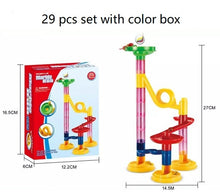 Load image into Gallery viewer, Marble Race Run Maze Balls Track DIY Construction Building Blocks Funnel Slide Big Building Brick