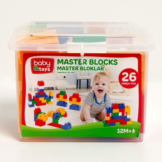 ebebek baby&toys Baby Master Blocks 26 Pieces Toy Stacking Baby Toys 13 24 Months Toy Toddler Stacking Toys