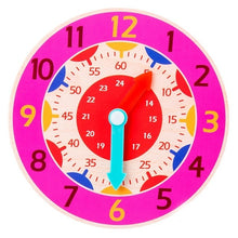 Load image into Gallery viewer, Children Montessori Wooden Clock Toys Hour Minute Second Cognition Colorful Clocks Toys for Kids Early Preschool Teaching Aids